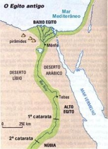 Mapa do Antigo Egito