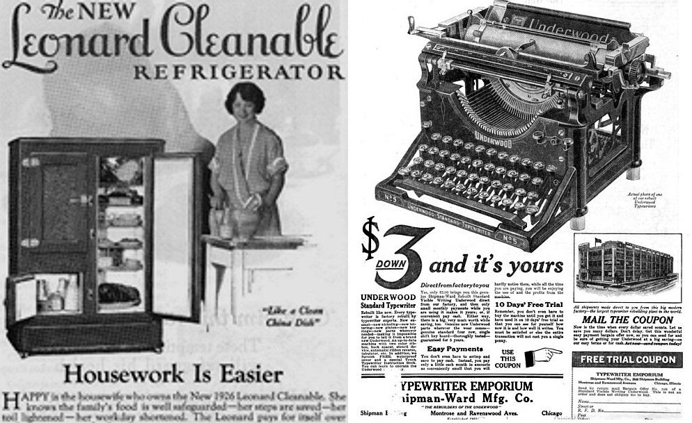 Anúncios de1929 nos EUA