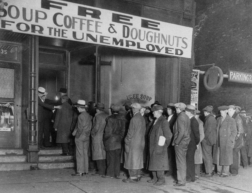 Sopão para os desempregados em 1929